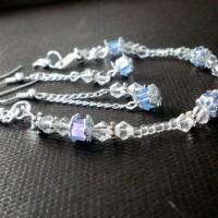 S11 - Margele sticla patrate 4mm + Cristale biconice 4mm + Argint tibetan - 20 lei