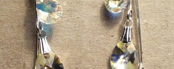 Lacrima8+-+Cristal+Swarovski+8mm+++Cristal+Swarovski+10mm+++Cristal+Swarovski+12mm+++Elemente+metalice+nichelate+-+20+ron