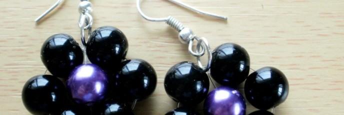 Perla2 - Perle sticla 8mm + Metal Argintat - 10 lei
