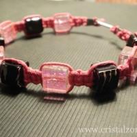 B27B - margele sticla crackle patrat 8 mm - 10 lei