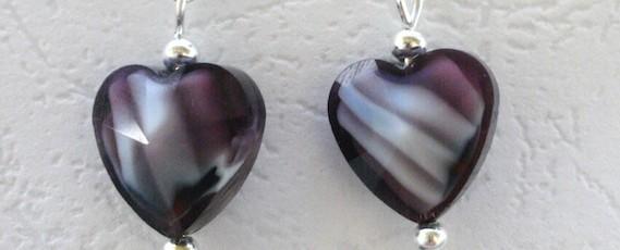 SetInima4+-+Sticla+Murano+++Elemente+metalice+argintate-+22+ron