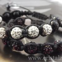 Bratari Shamballa - 30 lei - Snur + Margele Shamballa + Perle sticla